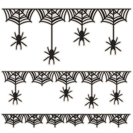 Spider web border spiderweb borders svg scrapbook cut file cute clipart files for