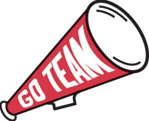 Wincraft school go team megaphone red clip art