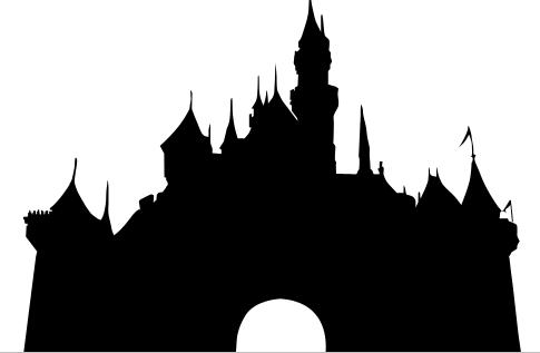 Cinderella castle clipart castle silhouette collection