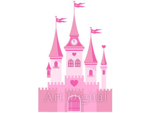 Cinderella castle disney castle clipart 7