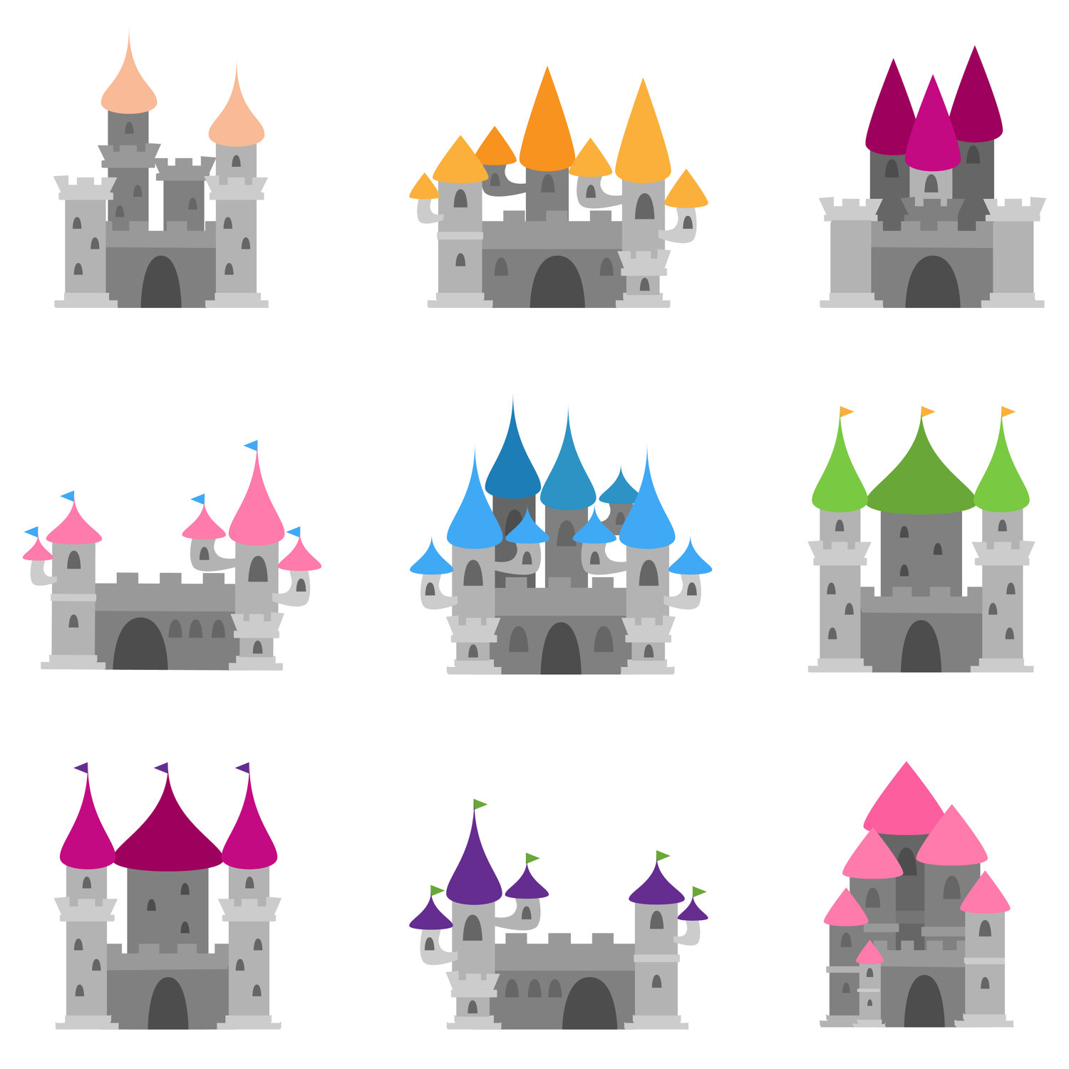 Cinderella castle disney castle silhouette vector black free download clip art