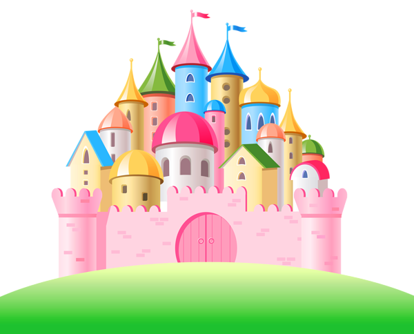 Cinderella castle pink castle clipart image clip art fairytale