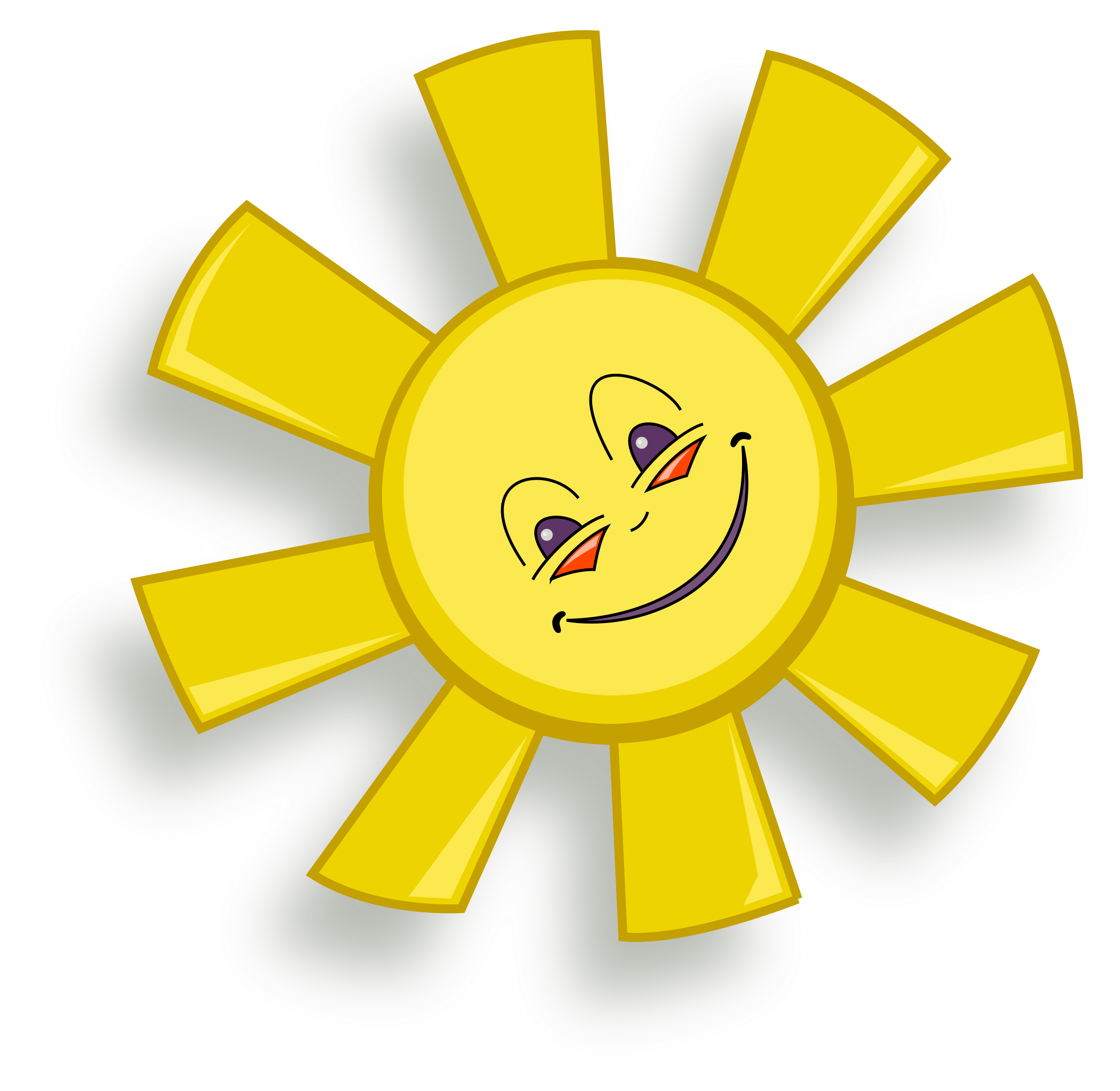 Clipart happy sun 2