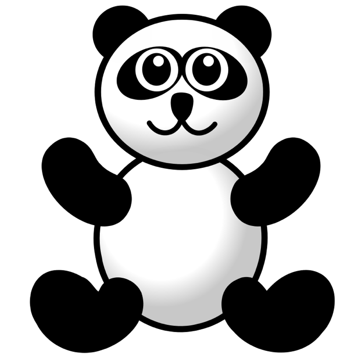Cute panda bear clipart 2