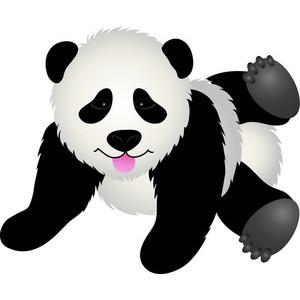 Cute panda bear clipart free images 3