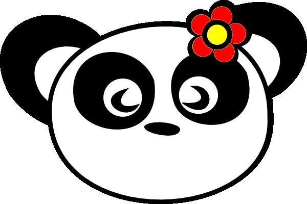 Cute panda bear clipart free images 5