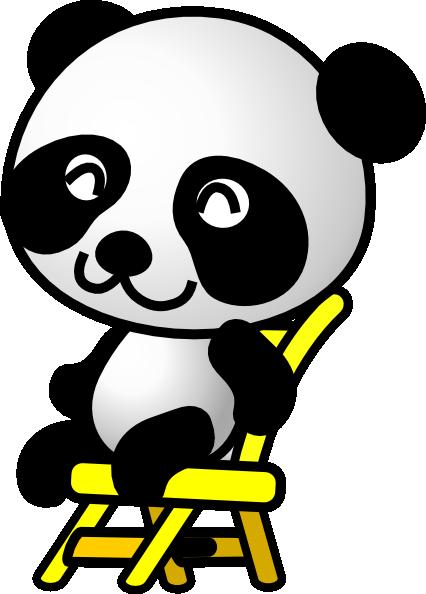 Cute panda bear clipart free images 6