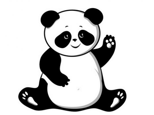 Cute panda clipart 11