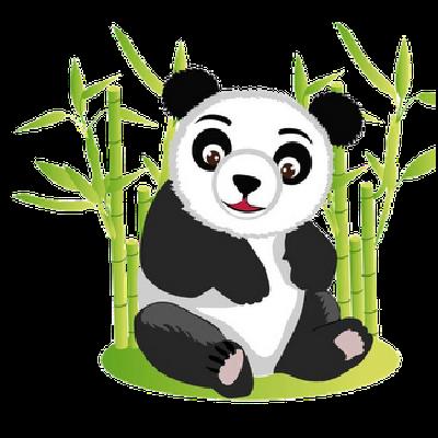 Cute panda clipart 2 image