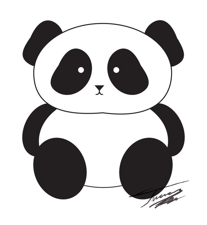Cute panda clipart 3