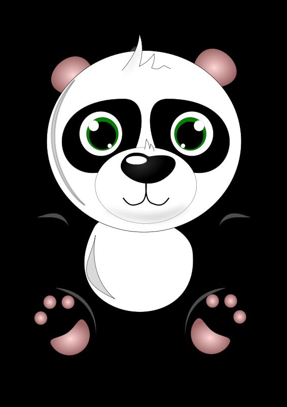 Cute panda clipart 4