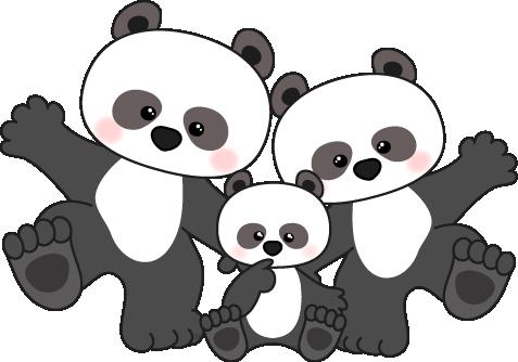Cute panda clipart 5