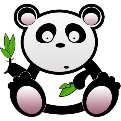 Cute panda clipart 6