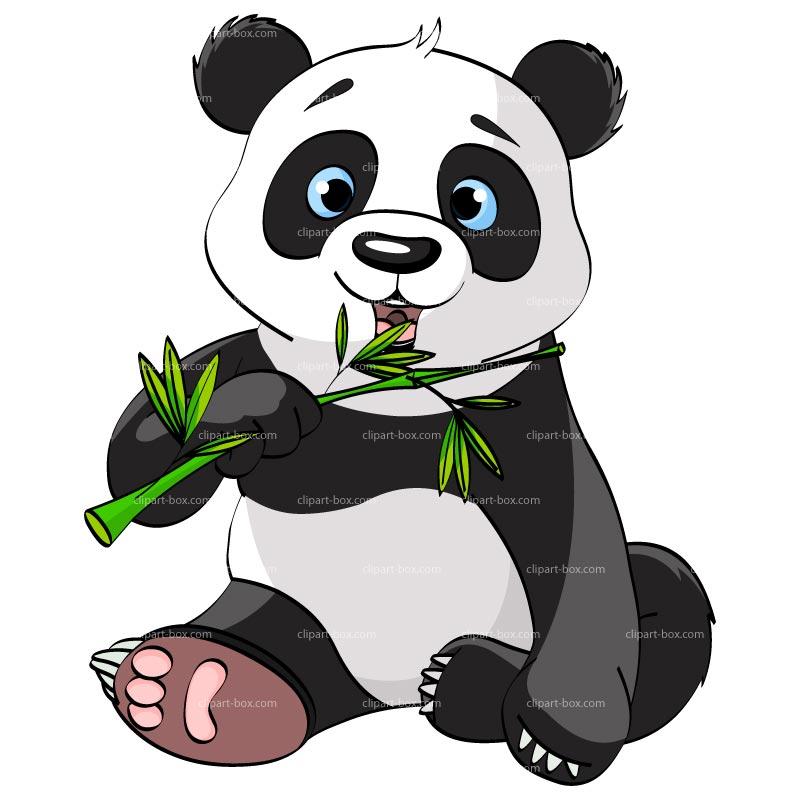 Cute panda clipart 9