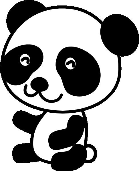 Cute panda head clipart free 2