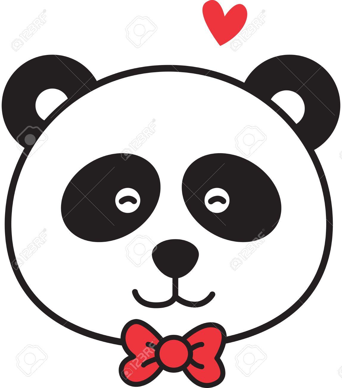 Cute panda head clipart free 4