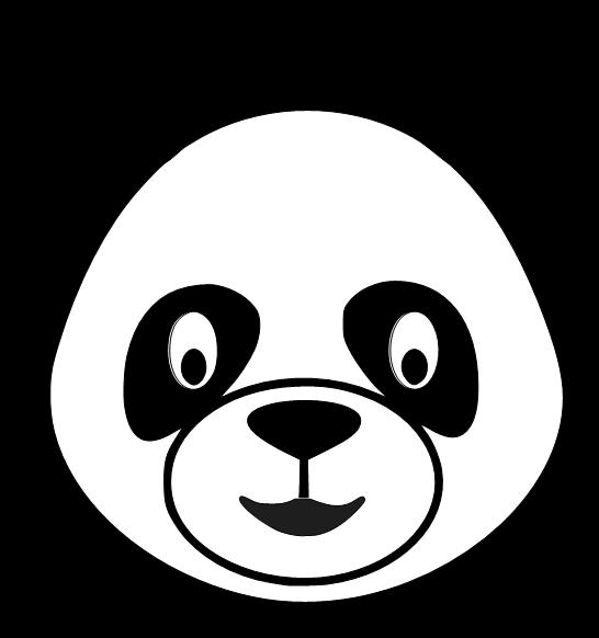 Cute panda head clipart free 5