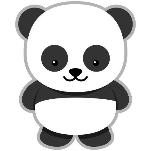Cute panda head clipart free