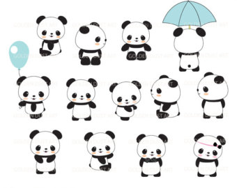 Cute panda panda clipart cheerful panda baby room