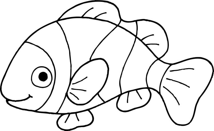 Fish black and white clipart fish clipartfest