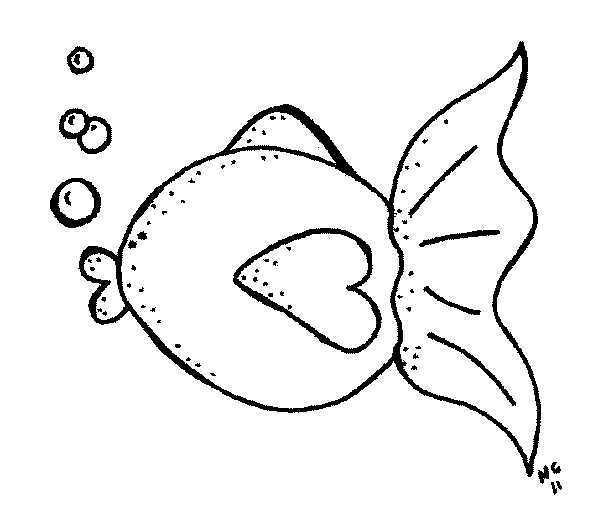 Fish black and white clown fish clipart 2