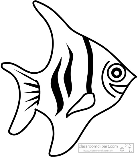 Fish black and white cute fish clip art free