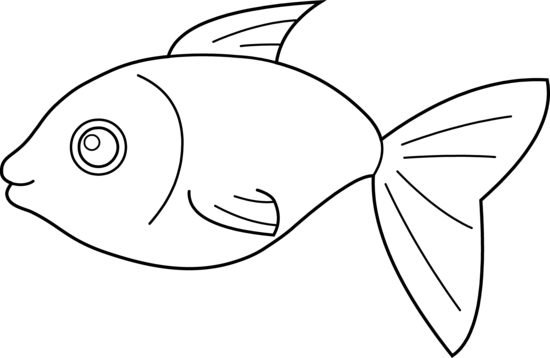 Fish black and white fish outline clip art