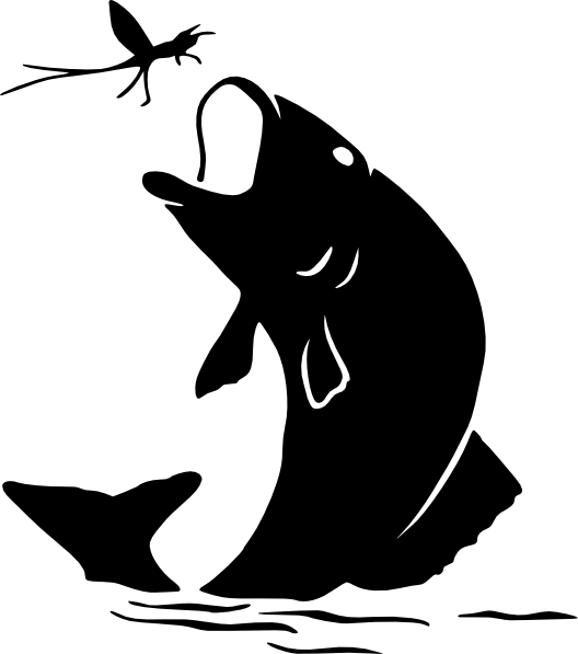 Fish black and white fishing black and white clipart collection