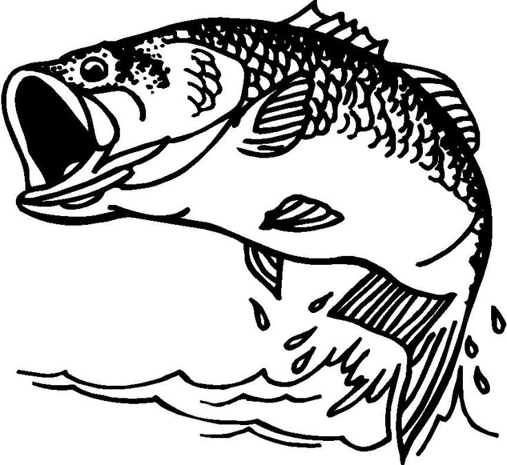 Fish black and white little fish clip art 3