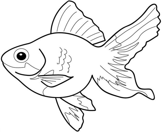 Fish black and white little fish clip art