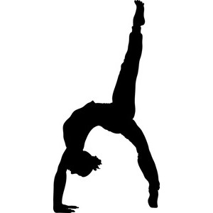 Gymnastics clipart tumbling free images 6