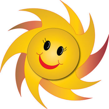 Happy sun clipart picture of a happy faced sun