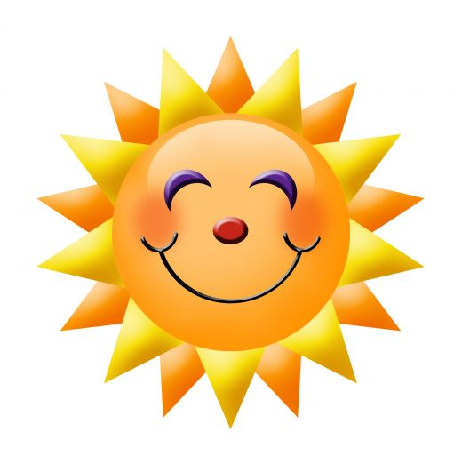 Happy sun happy face clipart smiley