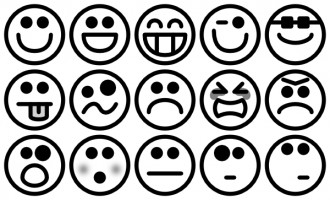 Smiley face  black and white green smiley face clip art emotions free clipart