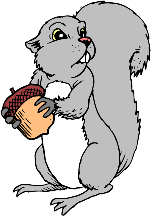 Squirrel  black and white squirrel clipart 3