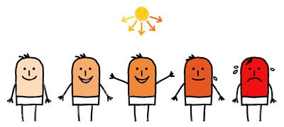 Sunburn Clipart