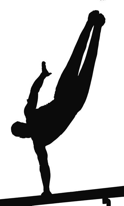 Tumbling gymnastics clipart cliparts