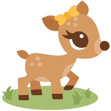 Baby deer deer clipart