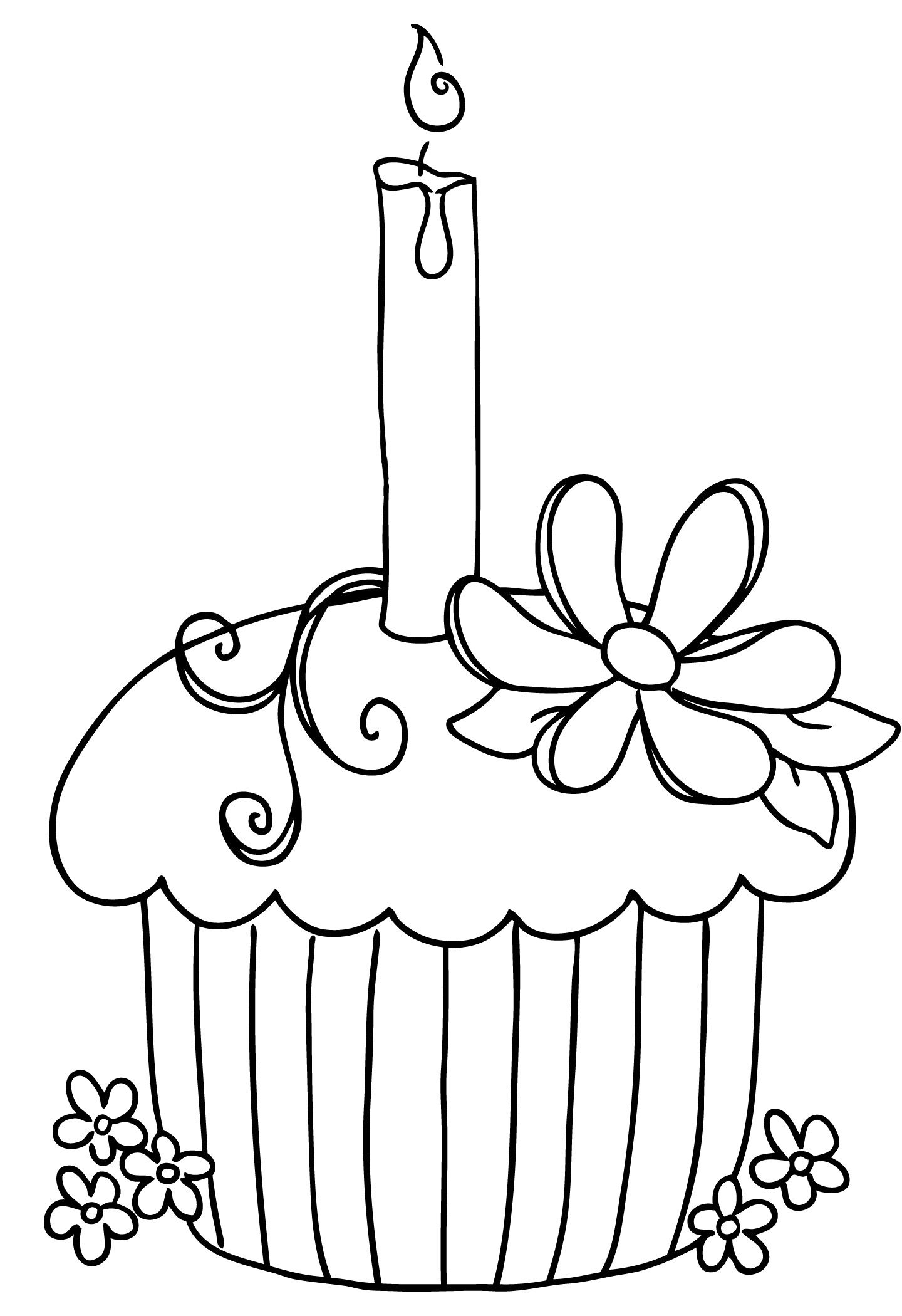 Fantastic Candle Black And White Clipart Black And White Birthday Cake With Funny Birthday Cards Online Alyptdamsfinfo