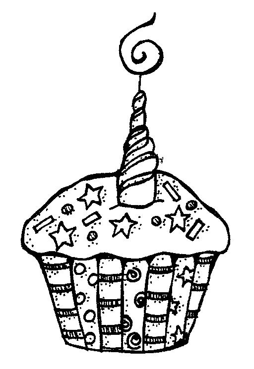 Candle  black and white cupcake clipart black and white 2