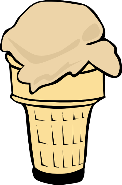 Ice cream  free ice cream cone 1 scoop clip art free vector 4vector