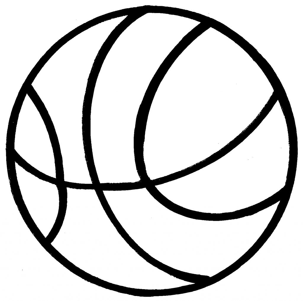 Present  black and white basketball clipart black and white