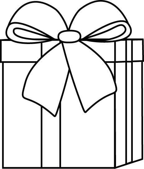 Present Clipart Black And White