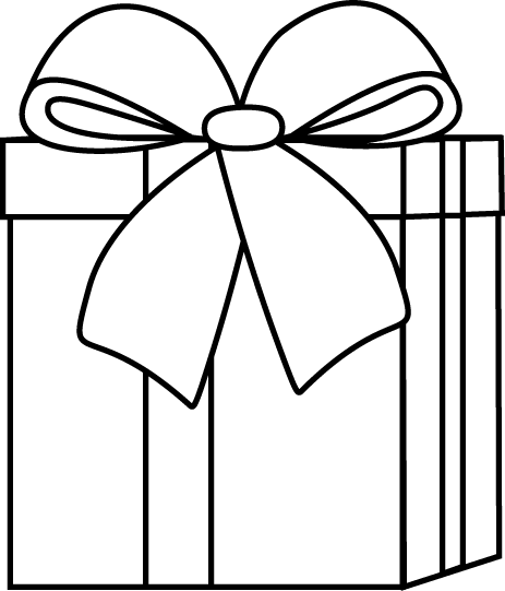 Present  black and white black and white christmas t clip art