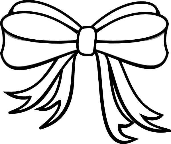 Present  black and white bow clipart black and white collection