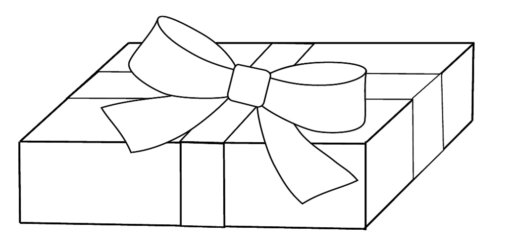 Present  black and white white t clipart to colour cm this drawing flickr