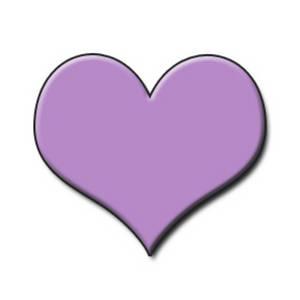 Purple heart clip art free clipart images 2