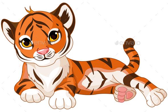 Baby tiger by dazdraperma graphicriver clipart