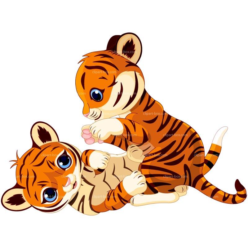 Baby tiger cartoon tigers clip art image