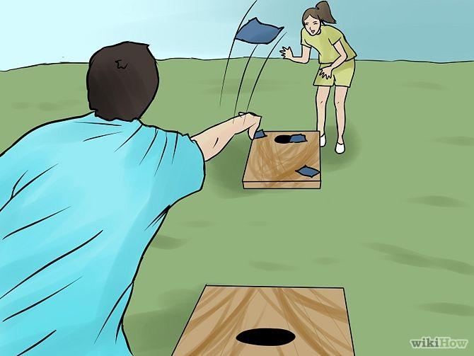 Corn hole the game of cornhole skip'garage clip art